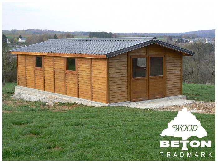 Chalet et abri de jardin en b ton woodbeton le partenaire id al pour vos r a - Chape beton pour abri de jardin ...